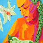 """Madonna of the Eggplant (detail 1 cropped)"" by sondrasula"