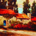 """Sardinia cottage"" by kanayoede"