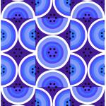 """Circles Blue Purple"" by LeslieTillmann"