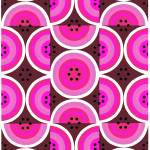 """Circles Hot Pink"" by LeslieTillmann"