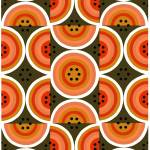 """Circles Orange Khaki"" by LeslieTillmann"