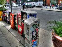 Graffiti Paper Bins HDR Philly