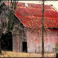 Red Barn Art Prints & Posters by J Smith