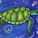 """Turtle Swimming"" by heididesigns"