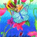 """Crystal Luk 11- Butterfly Garden"" by sabahkinderart"