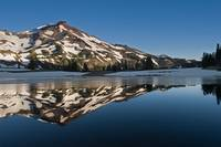 South Sister Reflected In South Green Lakes