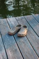 Crocs on the dock