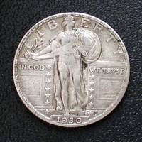 Standing Liberty quarter obverse 1930