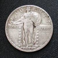 """Standing Liberty quarter obverse "" by Michael Mitchell"