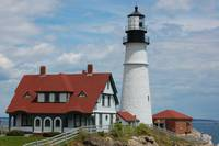 Classic Light House, Cape Elizabeth, Maine