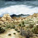 """Joshua Trees California - Landscape Art Painting"" by Art-America"