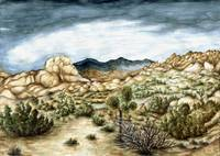 Joshua Trees California - Landscape Art Painting