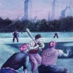 """New York Baseball Players - Fine Art Painting"" by Art-America"