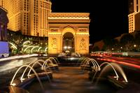 Paris Casino Fountain Las Vegas