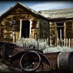 """Bodie House and Car - Aged (0354)"" by johncorney"