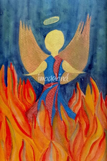 Stunning warrior angel art artwork for sale on fine art for Angel paintings for sale