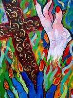 Hands Defy Their Planting (detail 1 cross)