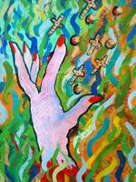Hands Defy Their Planting (detail2 flying crosses)