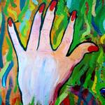 """Hands Defy Their Planting (detail 4 left hand)"" by sondrasula"