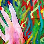 """Hands Defy Their Planting (detail 6 fingers)"" by sondrasula"