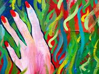 Hands Defy Their Planting (detail 6 fingers)