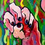 """Hands Defy Their Planting (detail 8 anger)"" by sondrasula"