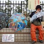"""Umbrella Painter"" by Velvetspacetime"
