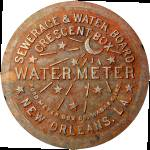 """New Orleans Water Meter Cover (Color)"" by NOLAlphabet"