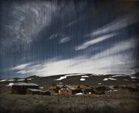 Landscape of Bodie Ghost Town - Aged (0383)