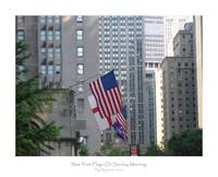 New York Flags On Sunday Morning