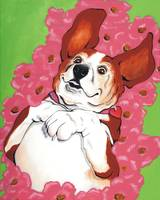 BASSET HOUND ~ IN THE POPPIES