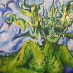 """Woman in Blue and Gree"" by LisaPetrone"