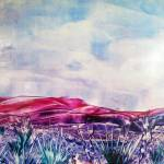 """Encaustic Desert"" by melinda"
