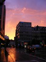 A sunset in Brussels