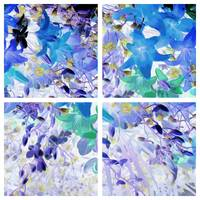 Val's Flowers Blue Navy Series 4 in 1