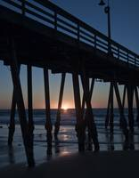 Sunset through the Imperial Beach Pier