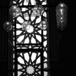 """Bahrain Mosque Window Lamp Balls Aligned"" by DonnaCorless"