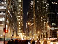 Downtown Chicago By Night