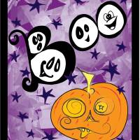 HALLOWENN-PUMPKIN-BOO Art Prints & Posters by Daryl Ann