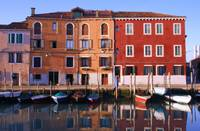 Reflections of Murano Island, Venice, Italy