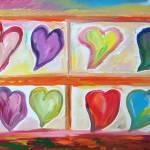 """bookshelf full of hearts"" by danielscharf"