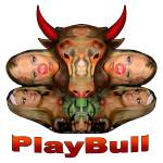 """PlayBull enhanced (white background)"" by originartzi"