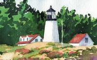 Burnt Island Lighthouse, Boothbay Harbor, (detail)