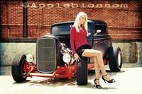 Hottie on a Hot Rod..