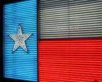 Texas Flag in Lights