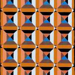 """squares and diags copper blue"" by LeslieTillmann"