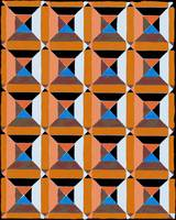 squares and diags copper blue