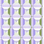 """squares and diags olive lavender"" by LeslieTillmann"