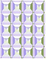 squares and diags olive lavender