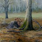 """Art; Louisiana Winter Landscape; Oil Painting"" by Lenora"